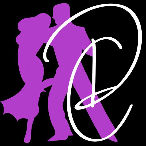 אייקון של זוג רוקד ריקודים סלוניים ולטיניים בדאנס קונטיננטל